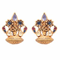 Carousel Jewels Dyed Crystal Clustered Studs Gold