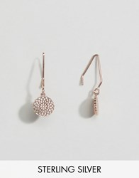 Asos Rose Gold Plated Sterling Silver Filigree Through Earrings Rose Gold Copper