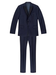 Valentino Regular Fit Wool Suit Blue