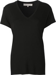 Joah Brown Classic V Neck T Shirt Black