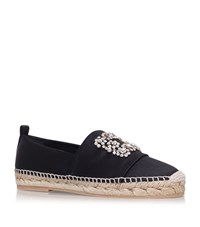 Roger Vivier Embellished Satin Espadrilles Female Black