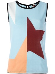 I'm Isola Marras Geometric Print Tank Top Blue