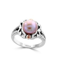 Effy 925 Pearl Sterling Silver And 18K Rose Goldplated Ring