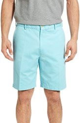 Peter Millar Men's 'Winston' Washed Twill Flat Front Shorts Mist Blue