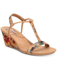 Styleandco. Style Co Mulan Wedge Sandals Created For Macy's Floral Cork