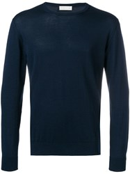 Etro Fitted Sweater Blue