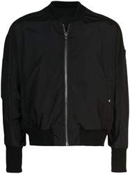 Julius Fitted Bomber Jacket Black