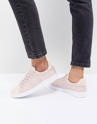 995678a4e006 Fred Perry Lace Up Trainers With Patent Trim Rose Dust Pink