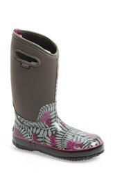 Bogs 'Winterberry' Waterproof Snow Boot With Cutout Handles Women Gray