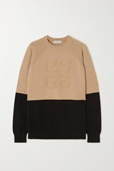 Givenchy Two Tone Cashmere Sweater Black