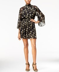 Rachel Roy Printed Smocked Dress Only At Macy's Black Combo