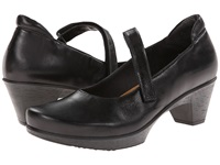Naot Footwear Muse Black Madras Leather Women's Flat Shoes