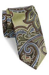 Men's J.Z. Richards Paisley Silk Tie Green