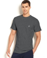 Polo Ralph Lauren Waffle Knit Thermal Crew Neck T Shirt Charcoal Heather