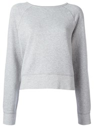 Rag And Bone Jean Boat Neck Sweatshirt Grey