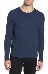 Zachary Prell Hawthorn Wool Blend Thermal Blue