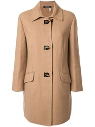 Salvatore Ferragamo Vintage Long Sleeve Coat Brown