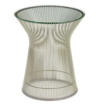 Knoll Platner Side Table G2 Brm Clear Glass Bronze Base Multicolor
