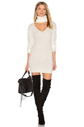 Reverse Cut It Out Sweater Dress White