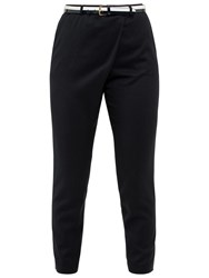 Ted Baker Colour By Numbers Tekla Cross Front Trousers Dark Blue