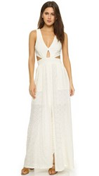 Bec And Bridge Embroidered Maxi Dress Ivory