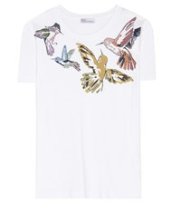 Red Valentino Graphic Printed Cotton T Shirt White