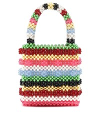 Shrimps Antonia Striped Beaded Tote Multicoloured