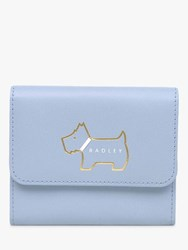 Radley Heritage Dog Outlined Small Leather Purse Light Blue