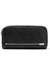 Alexander Wang Fumo Pebbled Leather Continental Wallet Black