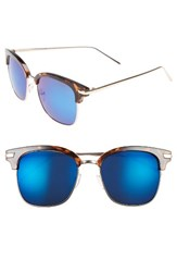 A. J. Morgan Women's A.J. Ebbets 53Mm Retro Sunglasses Tortoise Mirror Tortoise Mirror