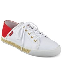Tommy Hilfiger Flip Sneakers Women's Shoes White Red