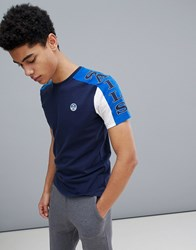 North Sails Slim Fit T Shirt With Sleeve Print In Navy