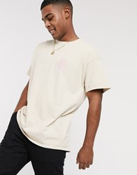 New Look Oversized Destorted Over Dyed T Shirt In Pink