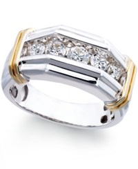 Macy's Men's Diamond 1 Ct. T.W. Ring In 14K White And Yellow Gold
