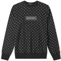 Sophnet. Polka Dot Crew Sweat Black