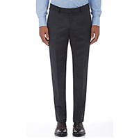 Ermenegildo Zegna Men's Wool Twill Trousers Dark Grey