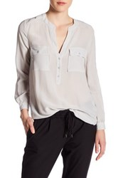 Joie Pauline Silk Shirt Gray