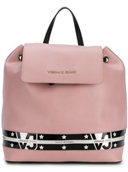 Versace Jeans Star Stripe Backpack Pink And Purple