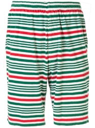 Undercover Elasticated Waist Striped Shorts Green
