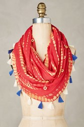 Anthropologie Festival Infinity Scarf Red