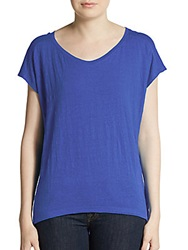 Eileen Fisher Organic Cotton Hi Lo Top Purple
