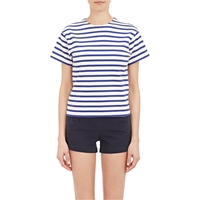 Nlst Stripe 'True' T Shirt Blue