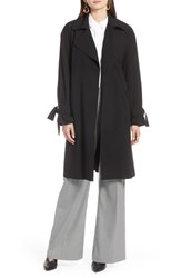 Halogen Lightweight Trench Coat Black