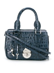 Sarah Chofakian Tote Bag Leather Polyester Blue