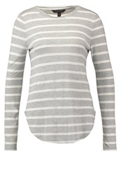 Banana Republic Long Sleeved Top Heather Grey Mottled Grey