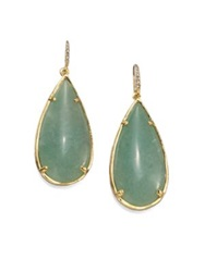 Abs By Allen Schwartz Jewelry Teardrop Earrings Gold Green