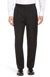 Linea Naturale Men's Pleated Microfiber Dress Pants Black