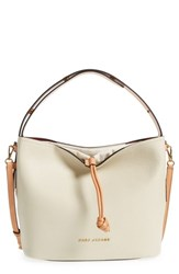 Marc Jacobs Road Leather Hobo White Antique White