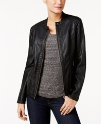 Styleandco. Style Co. Faux Leather Jacket Only At Macy's Deep Black