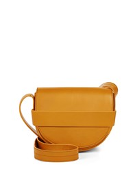 Jaeger Leather Mini Saddle Bag Orange